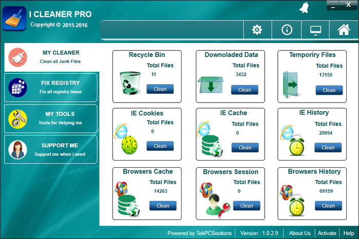 iCleaner Pro Screenshot