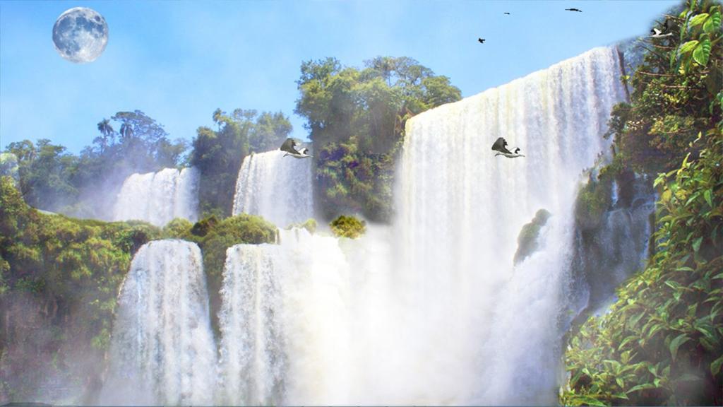 Nature's Creation Waterfall Screenshot 2