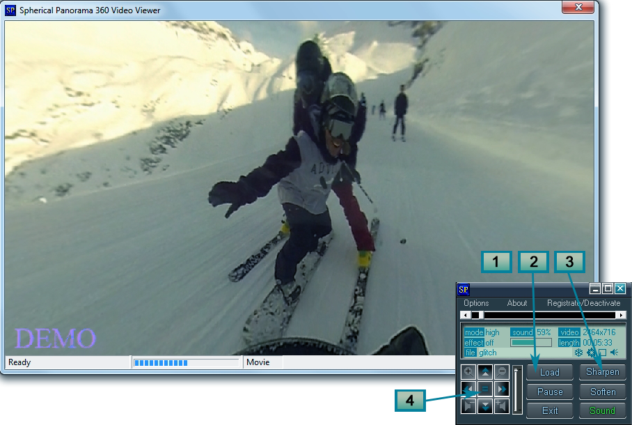 Spherical Panorama 360 Video Viewer Screenshot 5