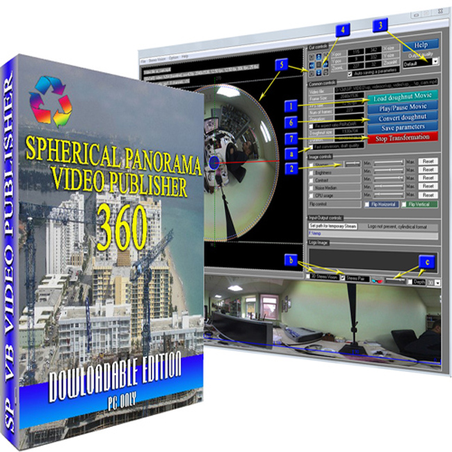 Spherical Panorama 360 Video Publisher Software Screenshot
