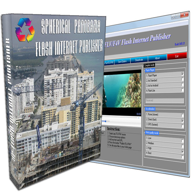 Spherical Panorama Flash Internet Publisher Screenshot