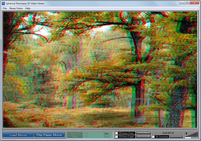 Spherical Panorama 3D Stereo Video Viewer Screenshot