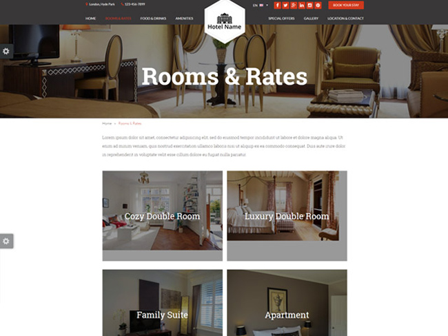 Hotel Website - Vevs.com Screenshot 2