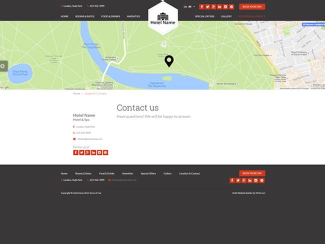 Hotel Website - Vevs.com Screenshot 5