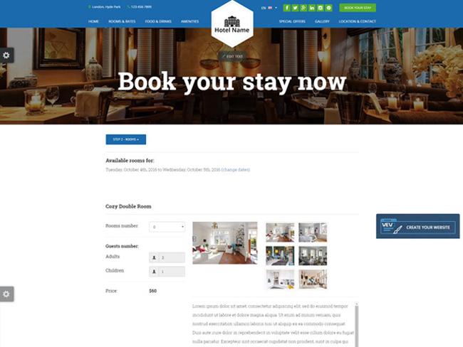 Hotel Website - Vevs.com Screenshot 7