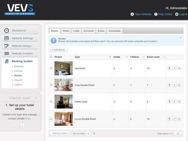 Hotel Website - Vevs.com Screenshot 10