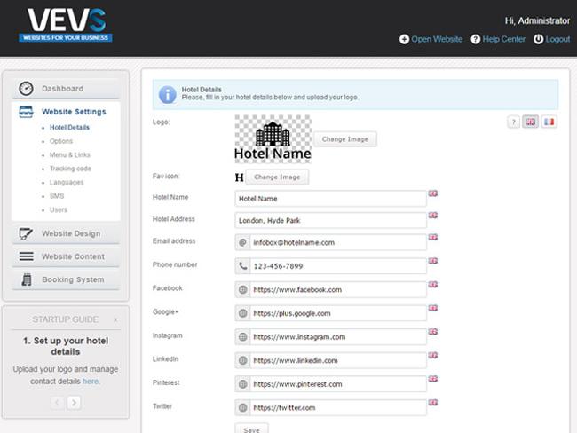 Hotel Website - Vevs.com Screenshot 9