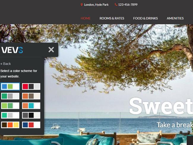 Hotel Website - Vevs.com Screenshot 6
