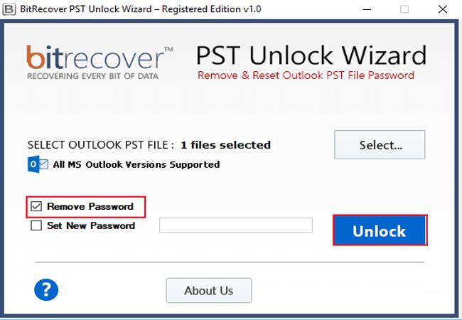 PST Unlock Wizard Screenshot 2