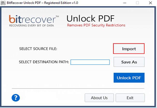 Unlock PDF Wizard Screenshot 1
