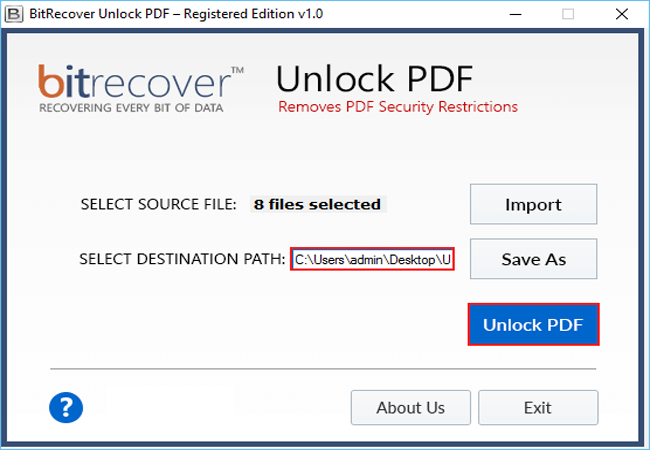 Unlock PDF Wizard Screenshot 3