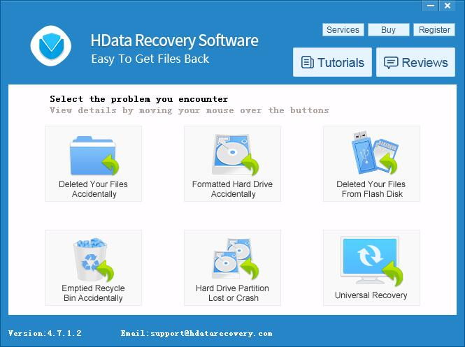 HData Recovery 4.7 - Recover Deleted Files Screenshot 1