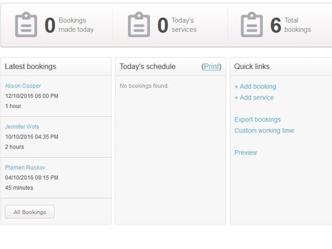 Service Booking Script Screenshot 4