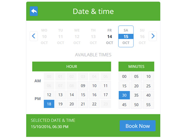 Service Booking Script Screenshot 2