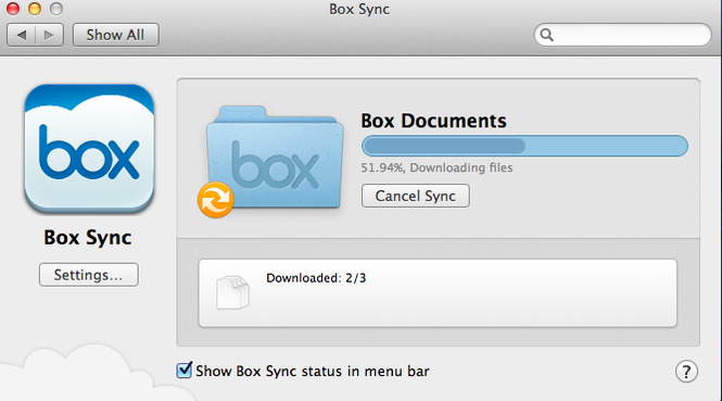 Box Sync Screenshot