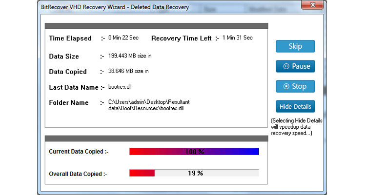 VHD Recovery Software Screenshot 4