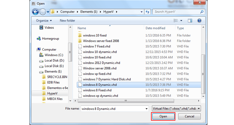 VHD Recovery Software Screenshot 1