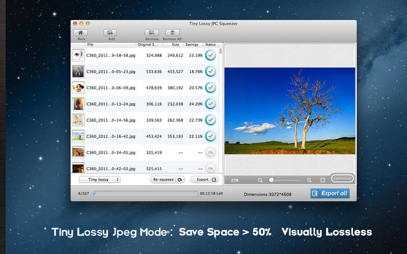 Lossless Photo Squeezer for Mac Screenshot 2
