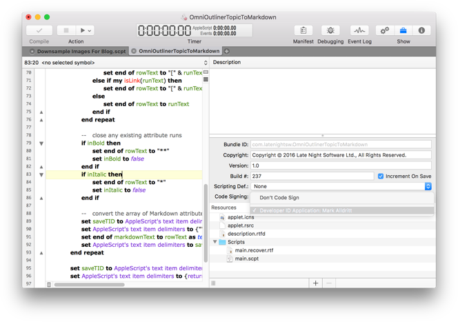 Script Debugger Screenshot