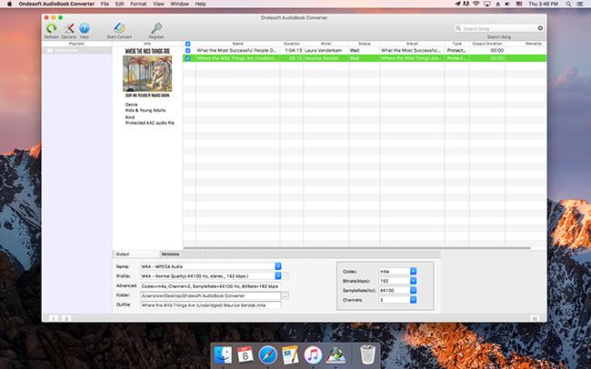 Ondesoft AudioBook Converter Screenshot 2