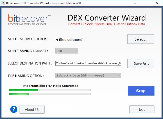 DBX Converter Wizard Screenshot 4