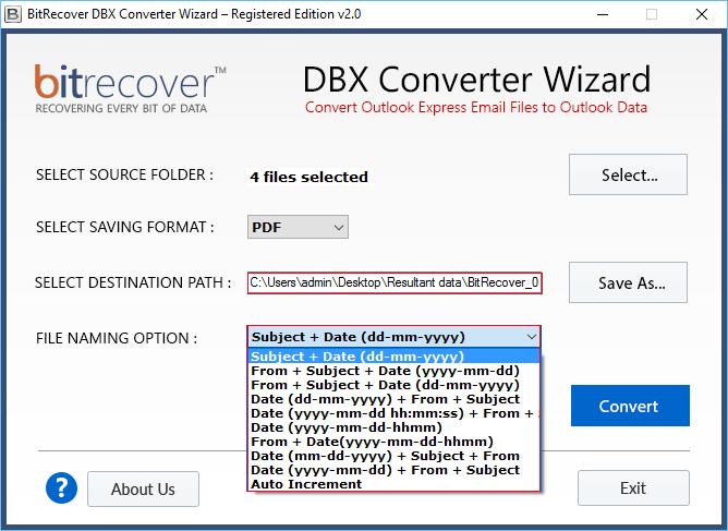 DBX Converter Wizard Screenshot 3