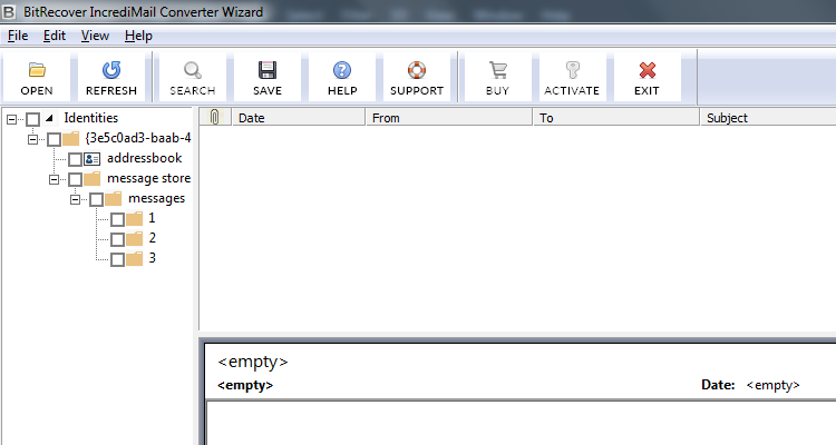 IncrediMail Converter Wizard Screenshot 1