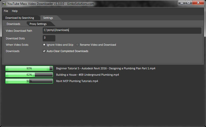 YouTube Mass Video Downloader Screenshot 3