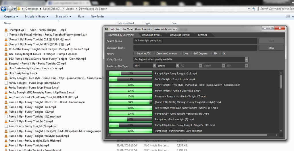 YouTube Mass Video Downloader Screenshot