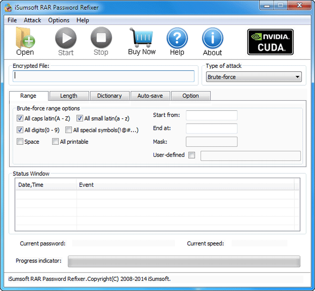 iSumsoft RAR Password Refixer Screenshot 1