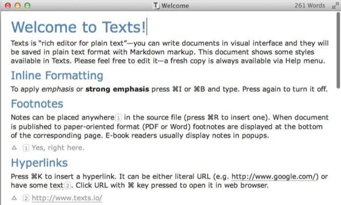 Texts Screenshot 1