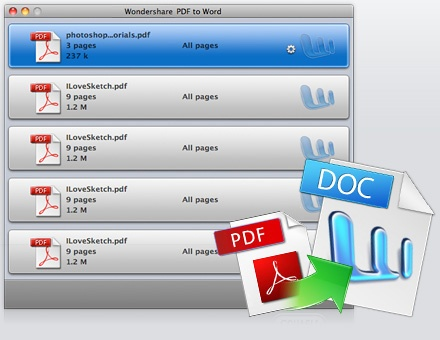 Wondershare PDF to Word Converter for Mac Screenshot 1