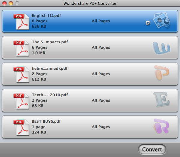 Wondershare PDF to PowerPoint Converter for Mac Screenshot
