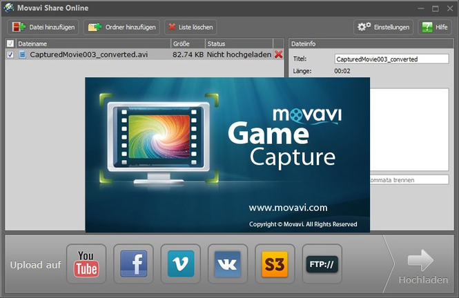 Movavi Game Capture Screenshot