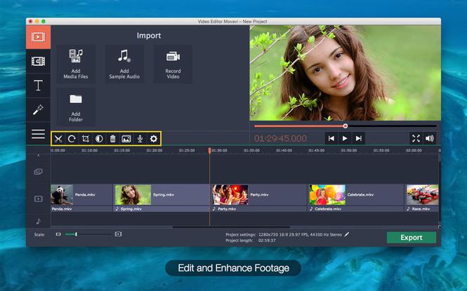 Movavi Video Editor for Mac Screenshot 2