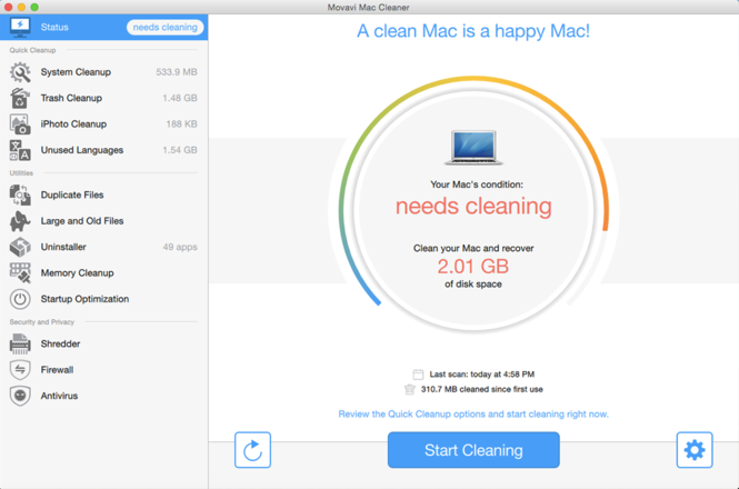 Movavi Mac Cleaner Screenshot 4