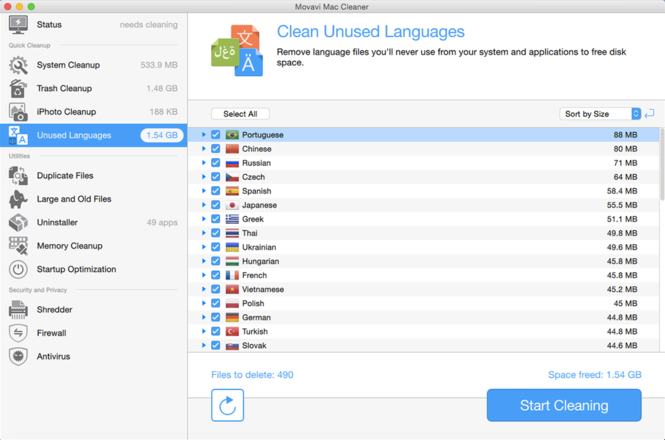 Movavi Mac Cleaner Screenshot 3