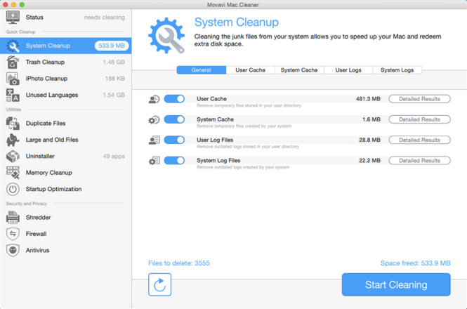 Movavi Mac Cleaner Screenshot 2