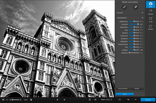 Movavi Photo Noir for Mac Screenshot 2