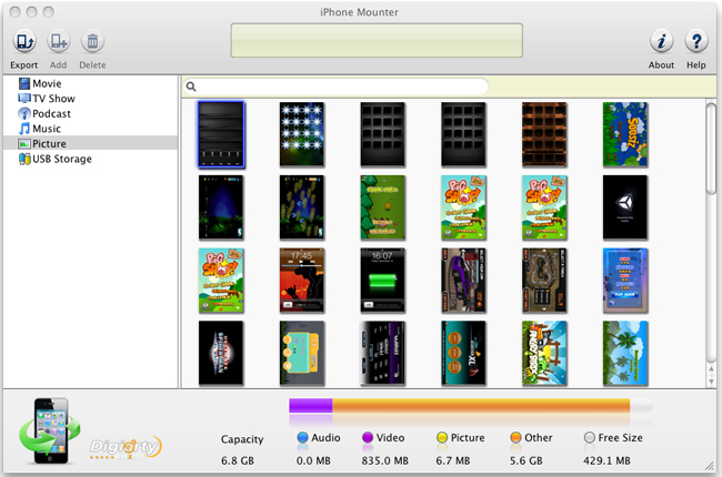 MacX iPhone Mounter Screenshot 3