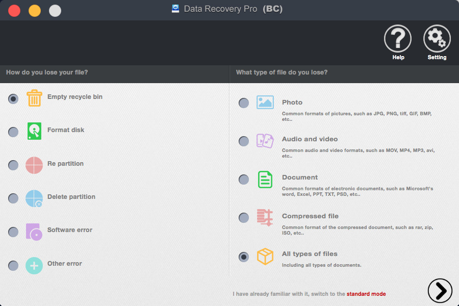 bighorncattle Data Recovery For Mac Screenshot 1