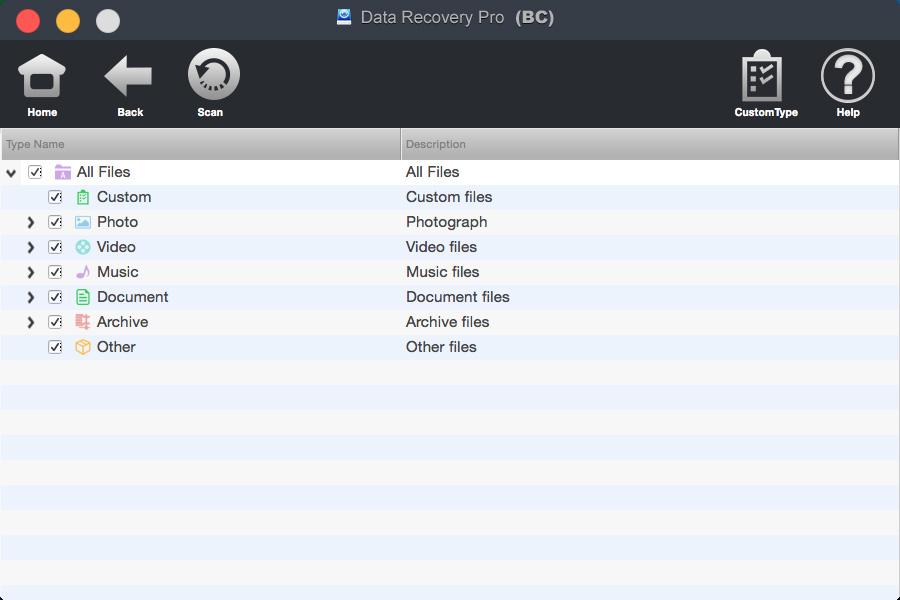 bighorncattle Data Recovery For Mac Screenshot 4