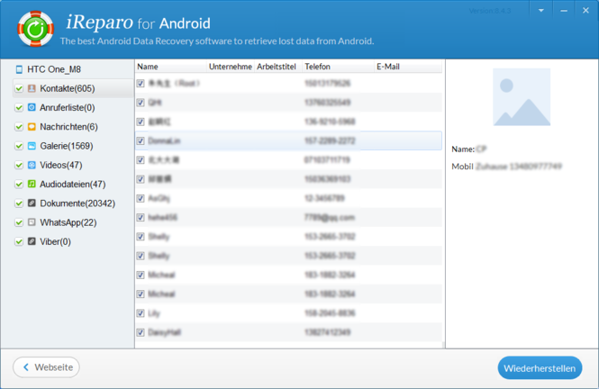 Jihosoft Android Phone Recovery Screenshot 5