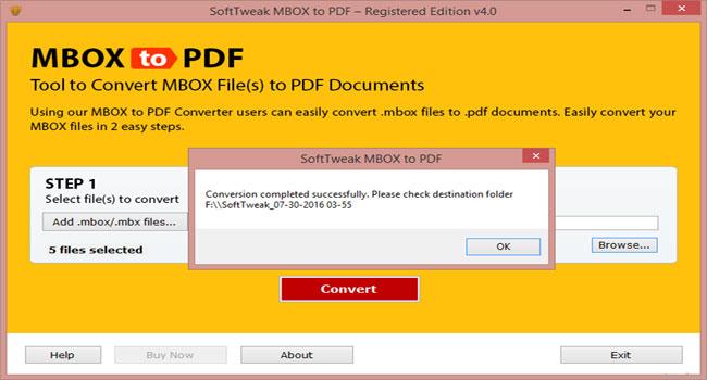 SoftTweak MBOX to PDF Screenshot 3