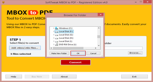 SoftTweak MBOX to PDF Screenshot 2