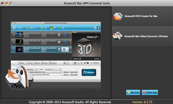 Aiseesoft MP4 Converter Suite for Mac Screenshot 1