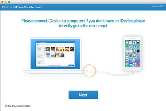 Jihosoft iPhone Data Recovery for Mac Screenshot