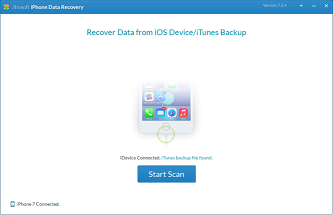 Jihosoft iPhone Data Recovery Screenshot 2