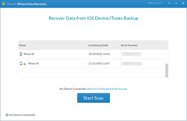 Jihosoft iPhone Data Recovery Screenshot 3