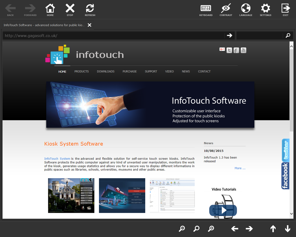 InfoTouch Professional Screenshot
